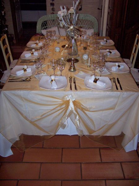 Maminou s cuisine et d coration d cor table de r veillon for Decoration reveillon